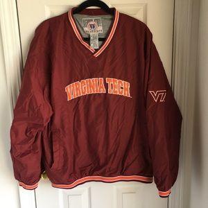 Virginia Tech V-Neck Pullover, Size Large.